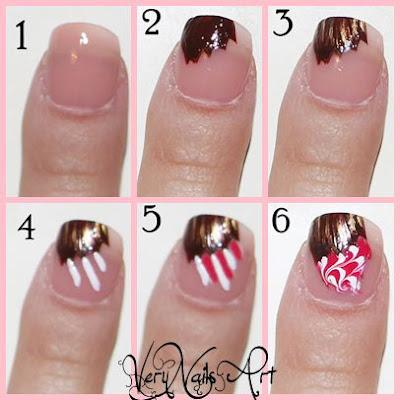 Decoración de uñas con cupcake paso a paso 2