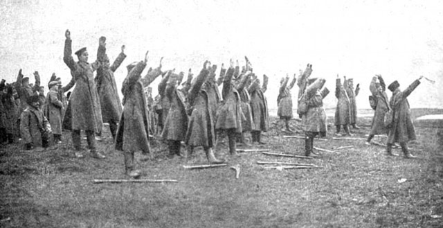 Russian soldiers surrender at the Tannenberg 1914 worldwartwo.filminspector.com