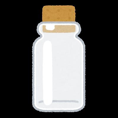 コルク瓶のイラスト
