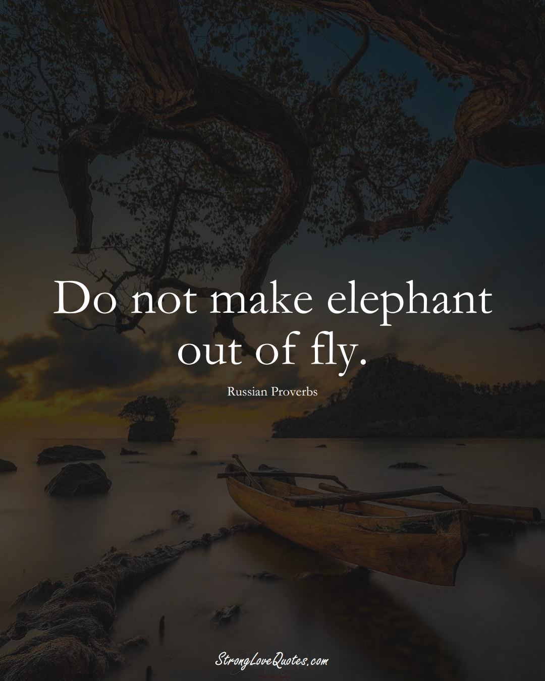 Do not make elephant out of fly. (Russian Sayings);  #AsianSayings