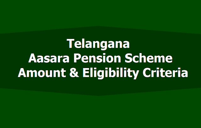 Telangana Aasara Pension Scheme Amount and Eligibility Criteria GO.17 and GO.34