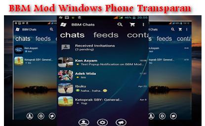 BBM MOD Windows Phone Transparan Terbaru
