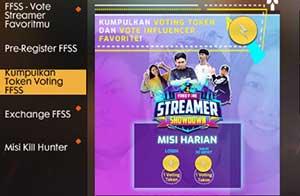 Vote FF Streamer Showdown
