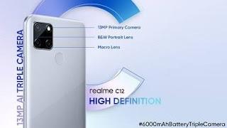 Spesifikasi dan Harga HP Realme C12 Terbaru