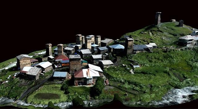 3D модель села Чажаши в Сванети
