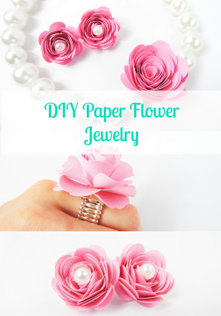 DIY pink paper flower jewelry. Statement necklace. DIY accessories