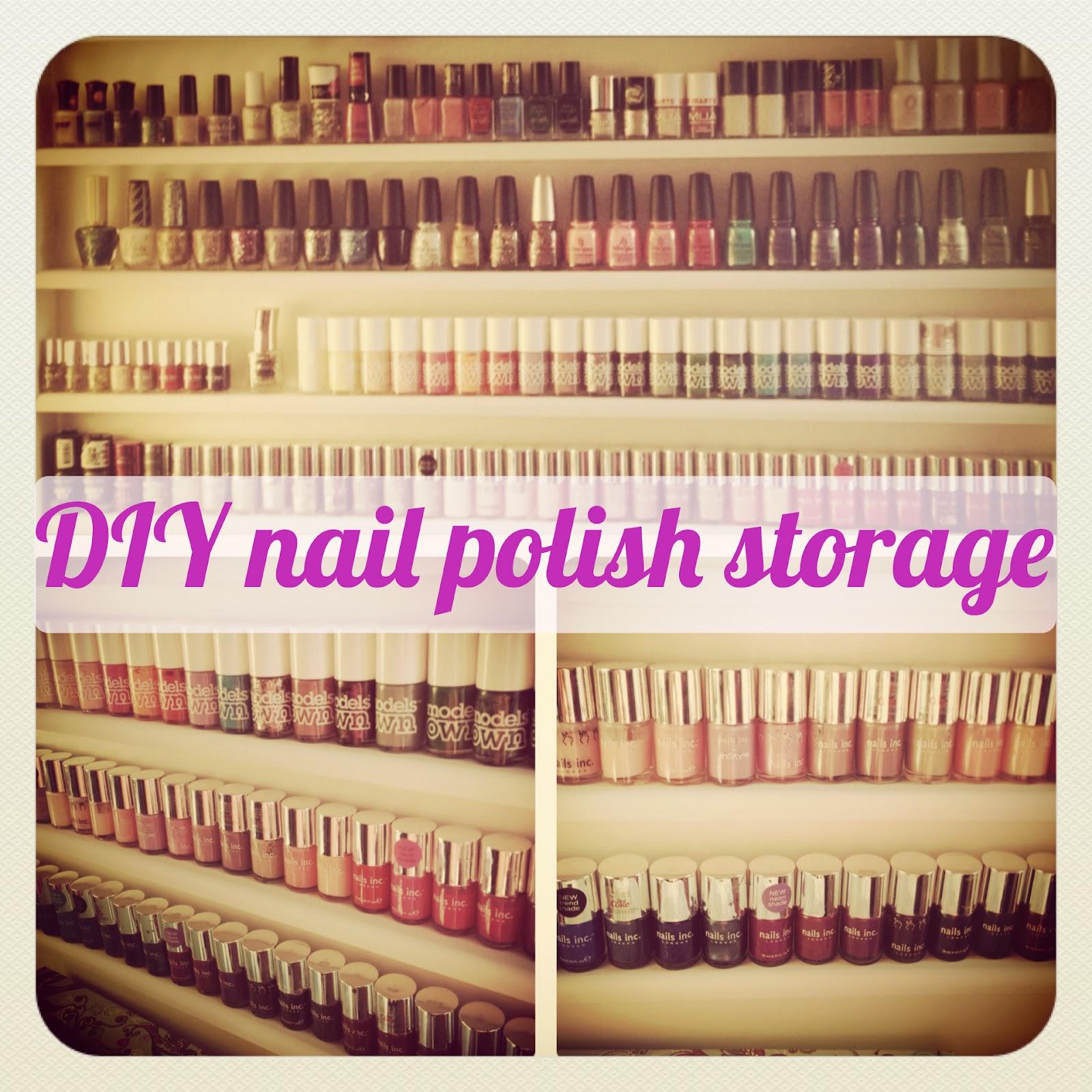 DIY / Tutorial : How to make a nail polish storage unit
