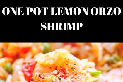 ONE POT LEMON ORZO SHRIMP