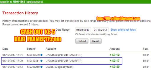 bukti pembayaran ke-5 dari FramePTP.com