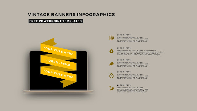 Vintage Banners Infographic Free PowerPoint Template Slide 7