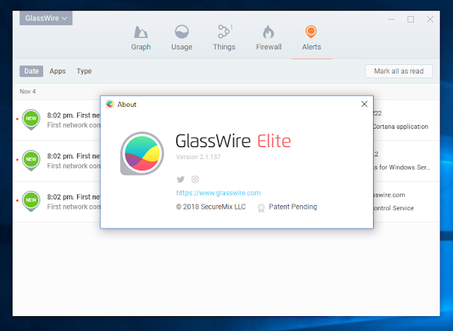 GlassWire Elite license