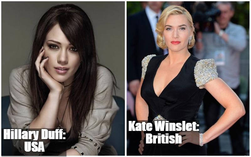 Hillary Duff  Vs  Kate Winslet