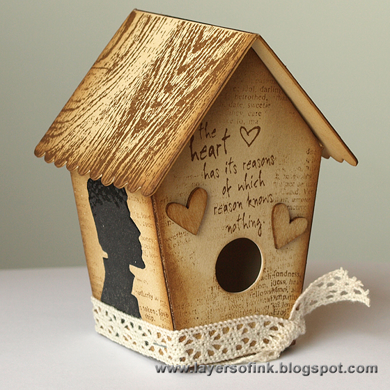 Heart Birdhouse - Layers of ink