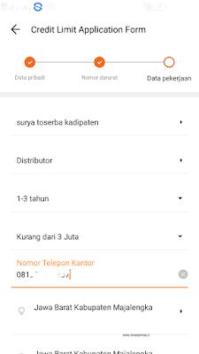 cara mengisi data pekerjaan di aplikasi akulaku