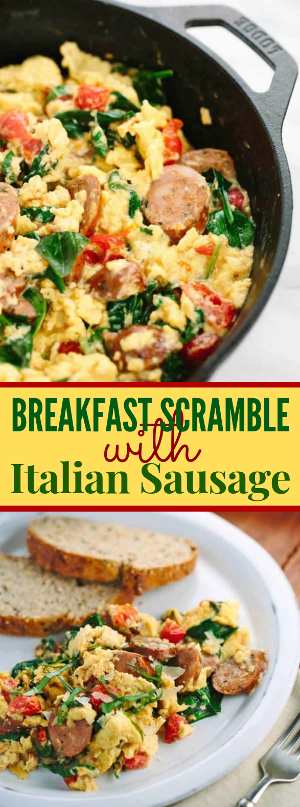 Breakfast Scramble with Italian Sausage #healthy #glutenfree