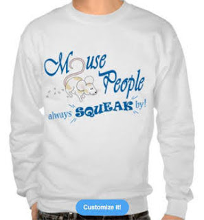 """""""Mouse People"""" mouse Sweatshirt, Blue Text"""