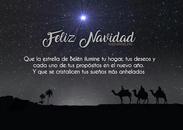 Feliz Navidad Que la estrella de Belén