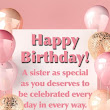 Happy Birthday Sister Wishes, Messages, Greetings & quotes