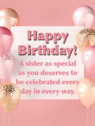 Happy Birthday Wishes For Sister Messages Quotes