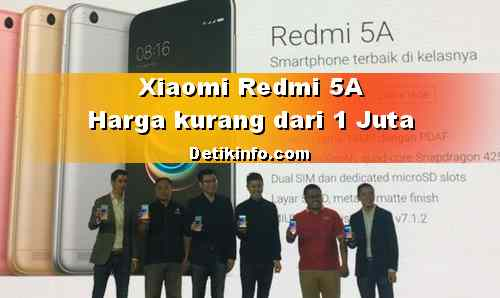 Spek Xiaomi REDMI 5A dengan Kamera 13 MP harga 999 Ribu