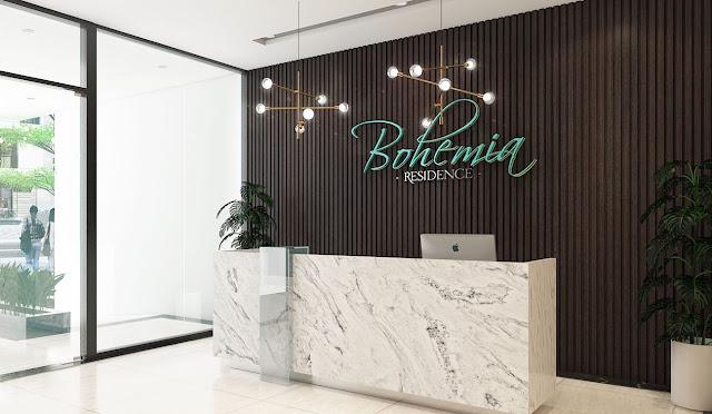 Sảnh chờ trang nhã chung cư Bohemia Residence