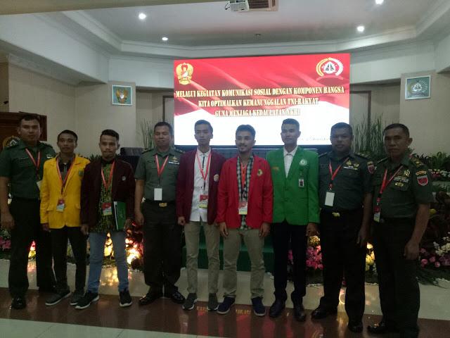 Pasi Komsos Rem 141/TP Dan Mahasiswa IAIN Bone ikuti Komsos se-Indonesia