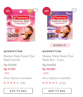 Harga Steam Eye Mask MegRhythm