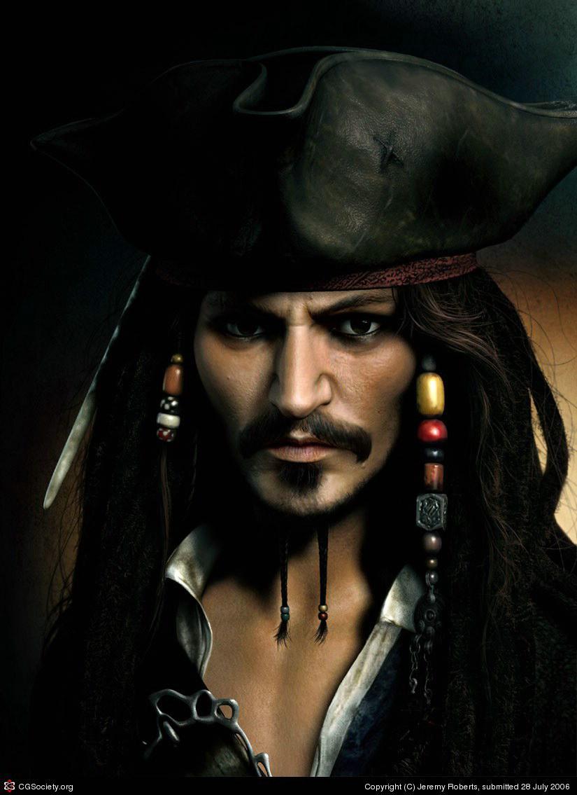 Jack Sparrow 3D Model