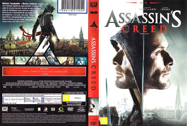 Capa DVD Assassin's Creed (Oficial)