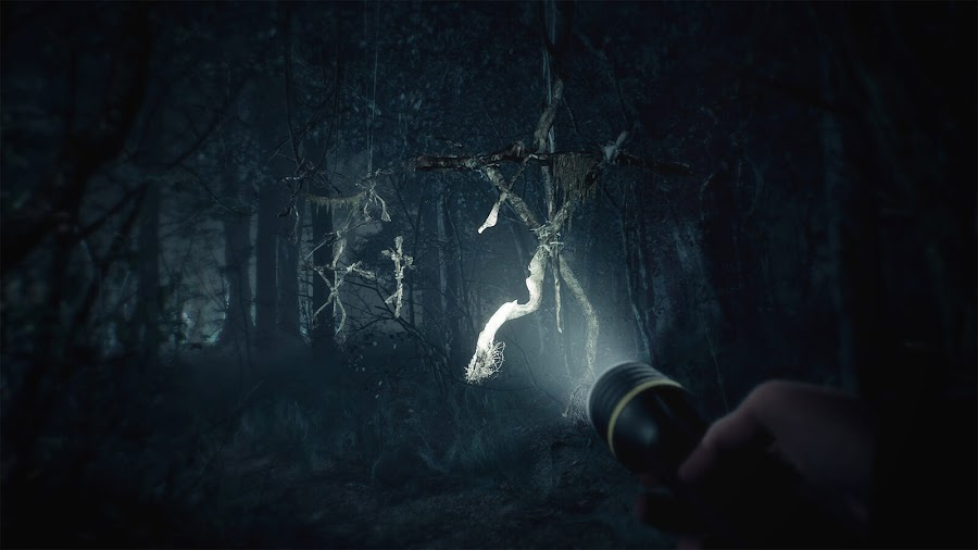 blair witch pc xb1 bloober team black hills forest totems