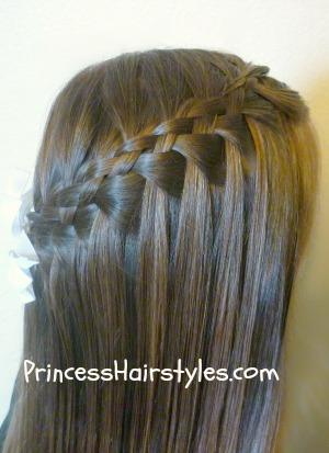 Astounding 5 Strand Waterfall Braid Hairstyles For Girls Princess Hairstyles Short Hairstyles For Black Women Fulllsitofus