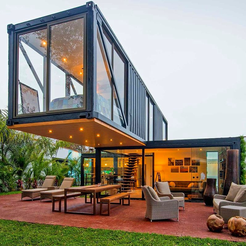 Shipping Container Homes Buildings Beautiful Two Storey Shipping Container Home Peru