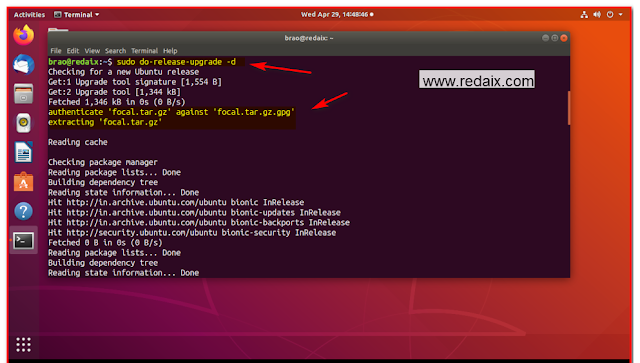 linux ubuntu force upgrade with option d