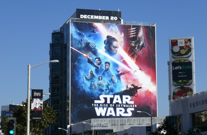 Giant Star Wars Rise of Skywalker movie billboard