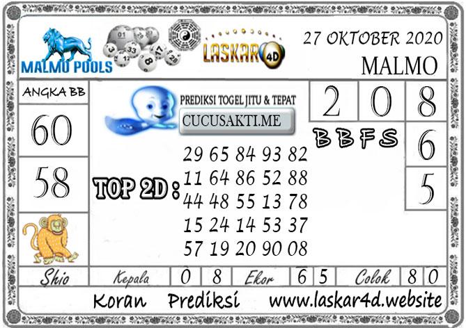 Prediksi Togel MALMO LASKAR4D 27 OKTOBER 2020