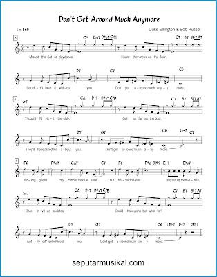 Don't Get Around Much Anymore chords jazz standar
