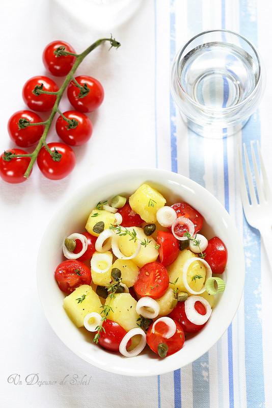 Salade de pommes de terre et tomates à la sicilienne