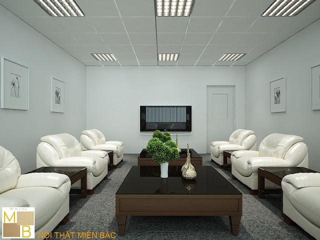 Trong mẫu thiết kế phòng khánh tiết cao cấp sang trọng này chiếc bàn gỗ tự nhiên cùng mặt kính chống xước cao cấp được kết hợp với ghế sofa màu trắng êm ái sẽ tạo nên một phối cảnh nội thất tuyệt vời