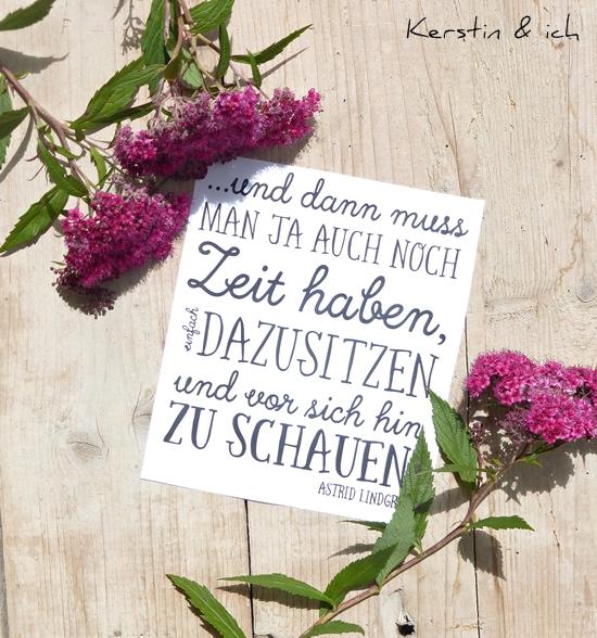 Print Ann.Meer Spruch von Astrid Lindgren