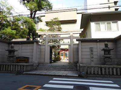 坐摩神社 西側の鳥居