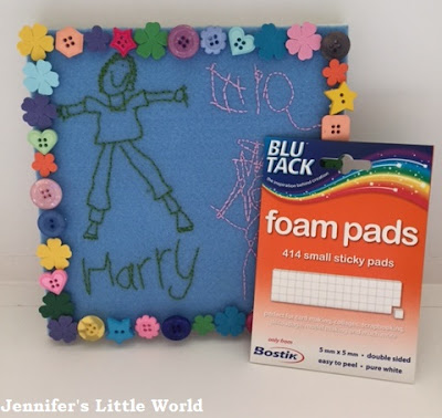 Embroidered keepsake canvas to make with children