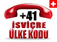 +41 İsviçre ülke telefon kodu
