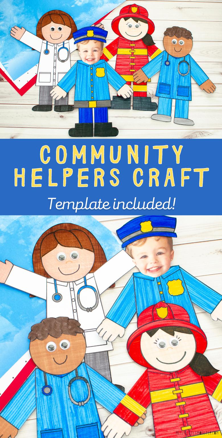 community helpers preschool craft. Community helpers craft template. Community helpers for kids