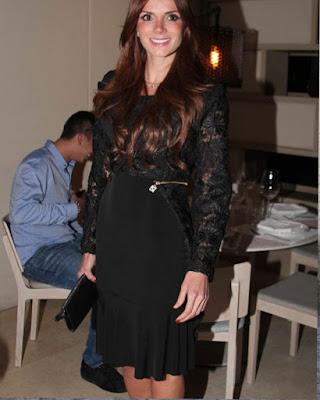 vestido negro transparente de navidad