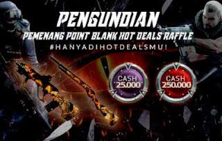 Daftar Lengkap UID Pemenang Hot Deals Hadiah Cash PB dan Senjata Gratis