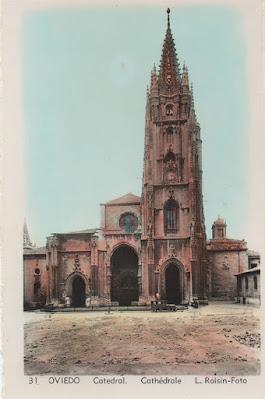 catedral, postal, Oviedo, Roisin