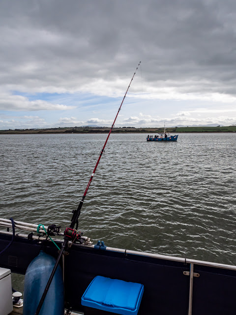 Photo of one of the new rod holders in use on our latest fishing trip