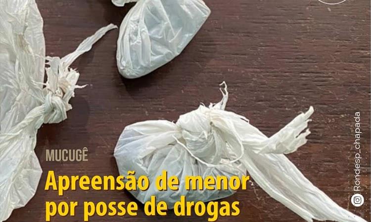 Adolescente é apreendido com drogas em Mucugê