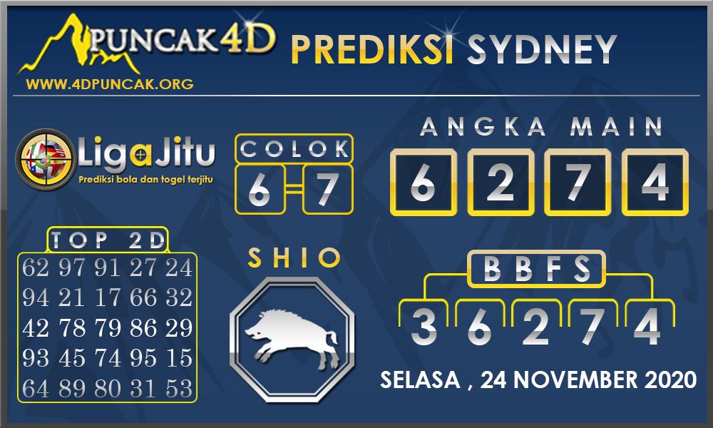 PREDIKSI TOGEL SYDNEY PUNCAK4D 24 NOVEMBER 2020