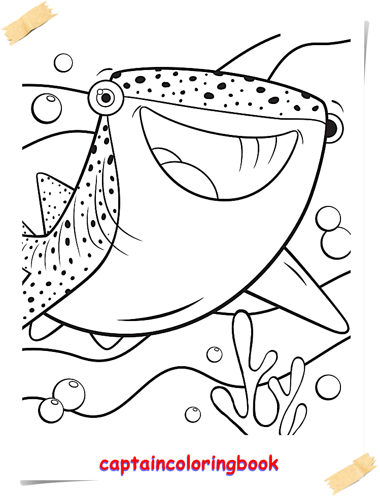 Disney Finding Dory Coloring Pages Coloring Page